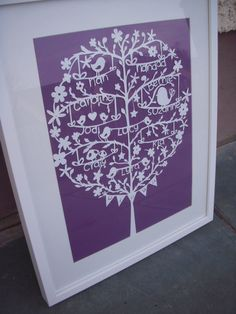Personalised Family Tree Papercut A3. £60.00, via Etsy.