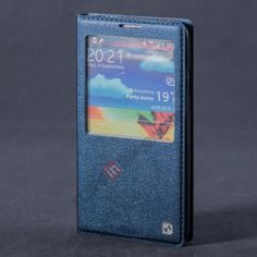 HOCO Fulness Series S-View Window Flip Stand Leather Case for Samsung Galaxy Note 3 N9000 - Navy Blue US$15.99