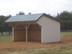 Precise Buildings LLC Site Built Horse Run in shed #0