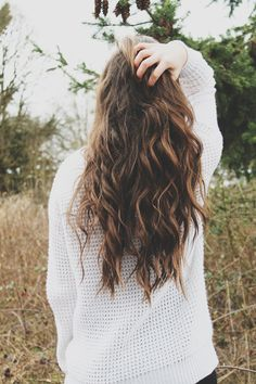 { highlights + loose waves }