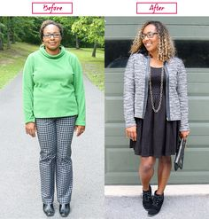 How To Look Less Frumpy - Fall Fashion. Wear a short jacket and booties with a dress to look longer.