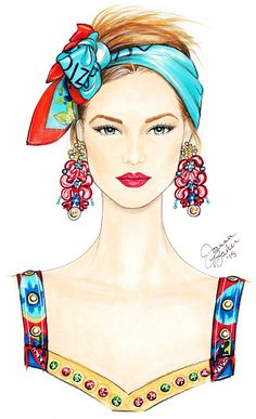 Fashion Month Part 2… | Joanna Baker : Fashion & Lifestyle Illustrations - Dolce & Gabbana