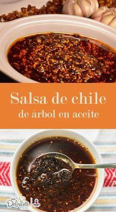 Acompaña tus platillos favoritos con esta salsa de chile de árbol en aceite, tiene una combinación de ajonjolí, pepita y cacahuate.