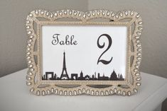 Eiffel Tower Paris Table Number. Parisians Theme by KimeeKouture