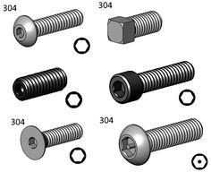 Vaste sélection de vis pression en tout genre et toutes tailles / Vast selection of pressure screw all sizes! Nut Bolt, Genre, Fasteners, Hardware, Rocket Launch, Everything, Computer Hardware