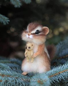 Artist Crafts Adorable Felted Animals from Wool That Will Make You Say Aww These Lifelike Needle Felted Animals are Ridiculously Cute The Animals, Cute Animals Images, Cute Wild Animals, Baby Animals Pictures, Cute Stuffed Animals, Cute Animal Drawings, Fluffy Animals, Cute Animal Pictures, Cute Funny Animals