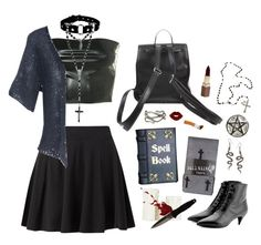 Nancy by voodoo-dolly on Polyvore featuring mode, Aniye By, Full Tilt, Yves Saint Laurent, Giro, Dolce&Gabbana, Pieces, Fashion Fair, H.R. and witch