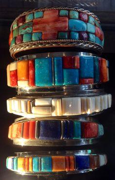 Art is Everywhere- Polished Stone Inlaid Bracelets