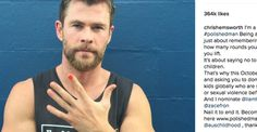 """""""Being a @PolishedMan isn't just about remembering to buy flowers, how many rounds you shout, or how much you lift."""" - Chris Hemsworth #PolishedMan #StopChildAbuse #ChrisHemsworth #Women"""