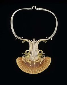 Choker #38 | Mary Lee Hu. 1978, #38, Fine and sterling silver, 18k and 24k gold, and lacquered copper