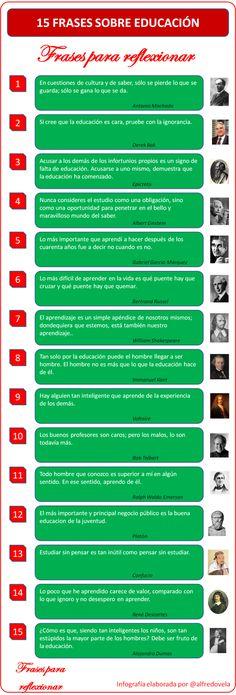 15 frases sobre la educación! (Infografía)