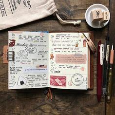 January 16-22. 2017 // Traveler's Notebook Passport
