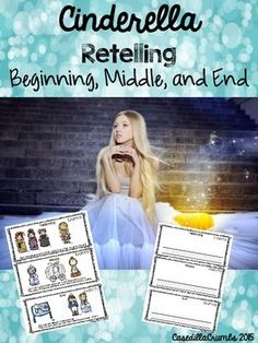 This product includes photos for the beginning, middle, and end of the story. You can use the one with text or allow your students to share based on the photos without text. You can also have students draw, illustrate, write about the beginning, middle, and end of the story.Search Words: first then next last fairy tales princess reading literacy writing
