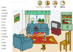 Swedish vocabulary - living room - svenska ord - vardagsrum 1