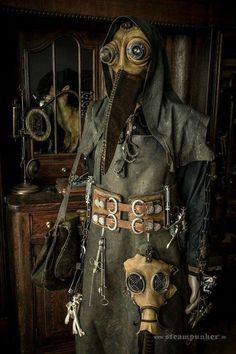 "victoriansolstice: ""  Steampunk plague doctor - an epidemiologist lives in there """