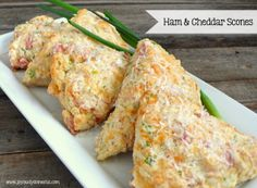 Joyously Domestic: Ham and Cheddar Scones