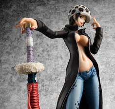 28.89$  Watch here - http://aii1d.worlditems.win/all/product.php?id=32788432081 -  20cm One piece sexy female version Trafalgar D Water Law action figure toys collection christmas toy doll with box