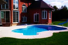 Discover new models of above-ground pools, semi-inground pools, in-ground pools and spas available at your Sima Canada dealer Semi Inground Pools, Pool Installation, In Ground Pools, Fun Stuff, Swimming Pools, Spa, Outdoor Decor, Projects, Fun Things