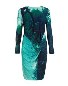 Reflective landscape dress - Light Green | Dresses | Ted Baker