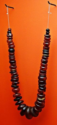 5th century amber beads from Issendorf — at Niedersächisches Landesmuseum Hannover. With thanks to member Matt Bunker.