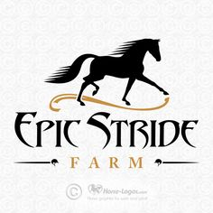 Custom horse logo design created for Epic Stride Farm. You can purchase your own…