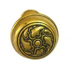 ViNTAGE BRASS DOOR KNOBS 1920s Pair of Brass Doorknob Sets 4