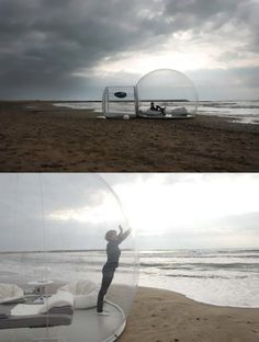 The Cristal Bubble Hut by BubbleTree - this would be fantastic on a secluded beach