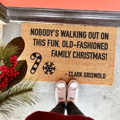 old-fashioned family Christmas doormat – – Clark Griswold – Christmas Vacation – funny doormat – Chevy Chase – Sparky – mat – Winter Break Funny Christmas Movies, Christmas Humor, Christmas Holidays, Christmas Wreaths, Christmas Quotes, Merry Christmas, Us Holidays, Office Christmas, Christmas Parties