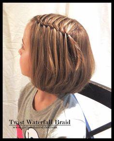 Tutorial waterfall braid half updo hair styles little girl hairstyles braided hairstyles Sweet Hairstyles, Flower Girl Hairstyles, Braided Hairstyles, Hairstyle Braid, Short Girl Hairstyles, Teenage Hairstyles, Wedding Hairstyles, Hairstyle Ideas, Elegant Hairstyles