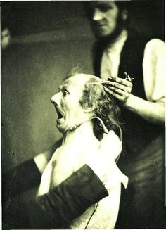 vintage photographs of patients and scenes from an insane asylum
