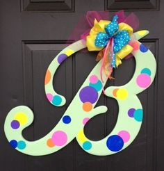 Wooden Letter B Bubble Door Hanger by RKDragonfly on Etsy, $44.95