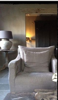 Love this chair fabric neutral soft easy to match and timeless