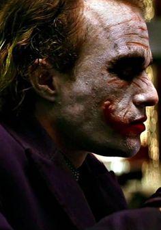 Heath Ledger's Joker - The Dark Knight Joker Dark Knight, Heath Ledger Joker, Batman Begins, The Darkest, Films, Tattoo, Makeup, Movies, Make Up