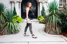 Maternity Style: easy fall look for #maternityfashion