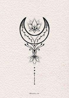 Bild Tattoos, Dope Tattoos, Pretty Tattoos, Beautiful Tattoos, Body Art Tattoos, Tatoos, Moon Tattoo Designs, Tattoo Design Drawings, Tattoo Sketches