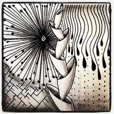 zentangle - basically a doodle but they are so fun, and relaxing, and kind of meditative. If you like to draw or doodle try some of these. If you need inspiration or help coming up with designs to use, go to tanglepatterns.com