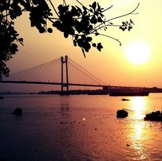 Sunset by the Hooghly River - Kolkata by @nishaeliezer on Instagram West Bengal, Kolkata, Travelling, Shots, Joy, River, Sunset, Random, Nature
