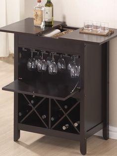Tuscany Modern Dry Bar & Wine Cabinet - Gilt Home