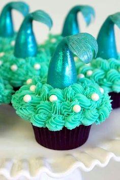 Little Mermaid Birthday cupcakes