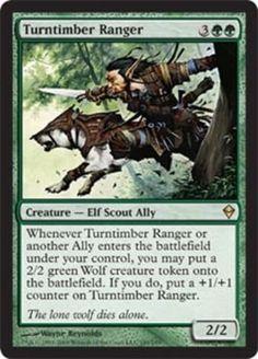 Turntimber-Ranger-x4-Magic-the-Gathering-4x-Zendikar-mtg-card-lot-NM-ally-rare Turntimber Ranger Magic the Gathering mtg green elf ally creature Zendikar rare