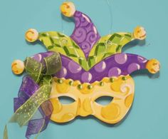 $48 Personalized Mardi Gras Mask Door Hanger