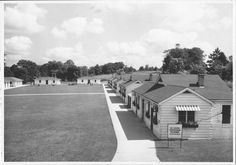 The orginal cabins at Woodeden Camp. The camp was also a chidren's treatment centre.