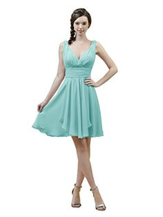 New Alicepub V-Neck A-Line Bridesmaid Dress Short Chiffon Cocktail Evening Party Dress online. Find great deals on RJC Dresses from top store. Sku cibx51151cywi61088