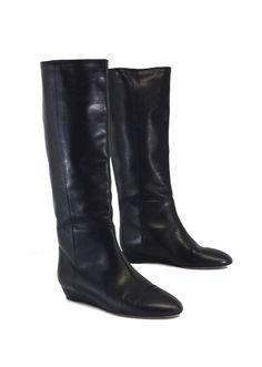 Loeffler Randall Matilde Black Leather Boots