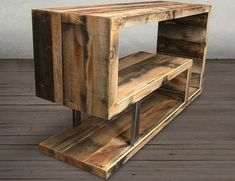 Tv wall unitcoffee tablemedia unittv standtv cabinettv consoleentryway tablerustic tv standr - TV Stands - Ideas of TV Stands Wooden Pallet Furniture, Wooden Pallets, Rustic Furniture, Diy Furniture, Pallet Walls, Furniture Buyers, Pallet Sofa, Furniture Online, Furniture Plans
