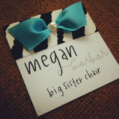 Cute name tag idea!