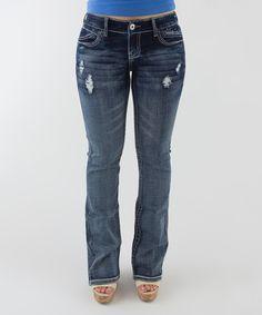 Love this Light Wash Denim Curvy Slim Bootcut Jeans - Plus by Ariya Jeans on #zulily! #zulilyfinds