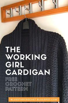 Women's crochet cardigan free pattern Cardigan Au Crochet, Knit Cardigan Pattern, Crochet Coat, Crochet Shawl, Crochet Clothes, Easy Crochet, Crochet Ideas, Crochet Cardigan Pattern Free Women, Crochet Sweaters