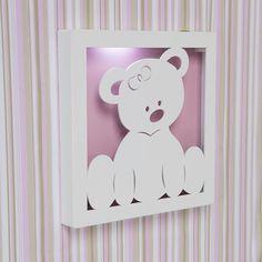 Quadro Led Ursa Baby   Grão de Gente