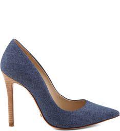 SCARPIN SALTO ALTO EM JEANS - Schutz calçados